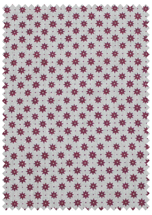 Petite Etoile French Raspberry - Natural Linen Swatch