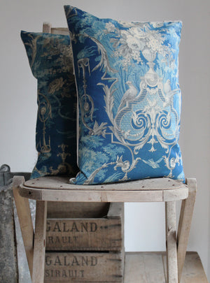 Blue & Grey Toile Scatter Cushion