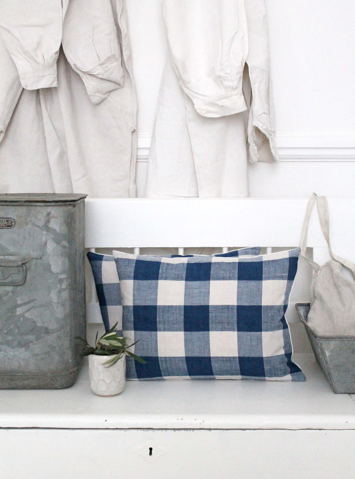 Breton Check Scatter Cushion