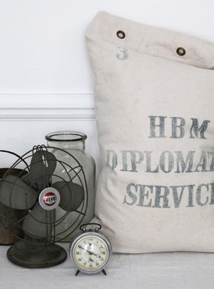 Diplomatic Vintage Sack Cushion