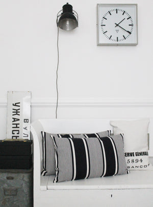 Dark Mono Vintage Stripe - Slumber Cushion