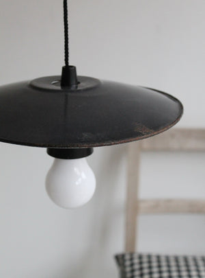 Enamel Lamp Shade Black