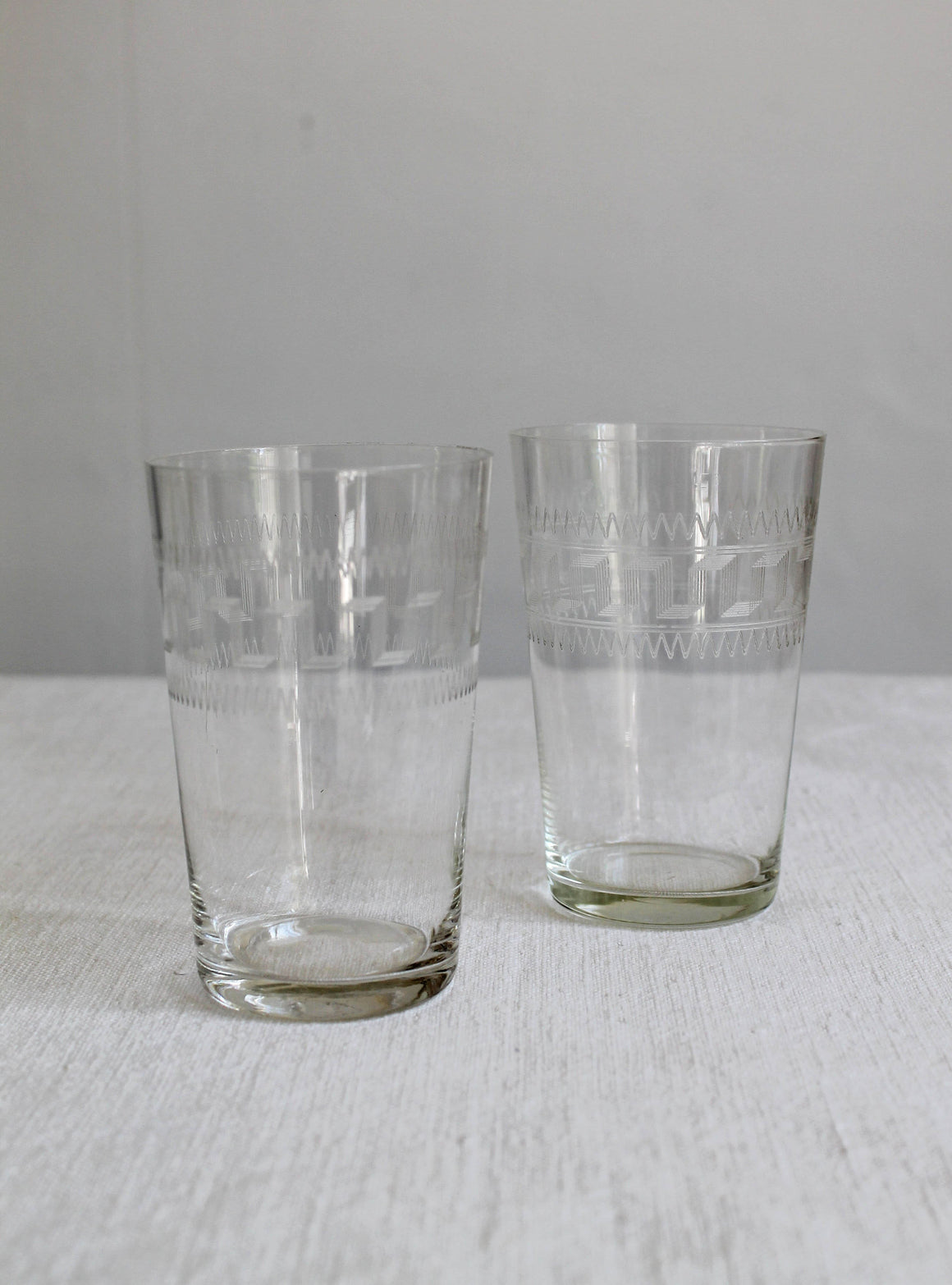 Etched Victorian Water Glasses