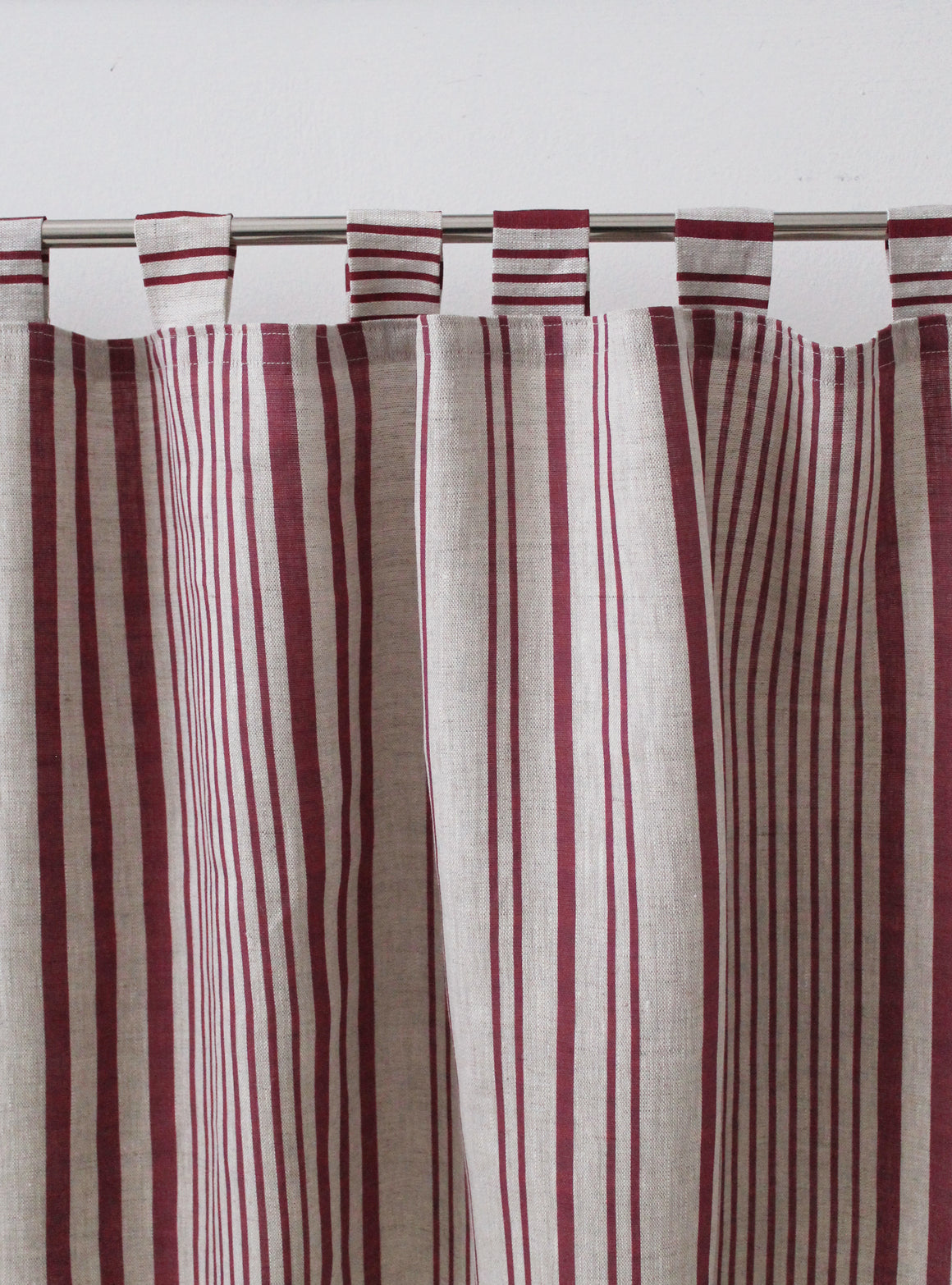 Stanley Stripe French Raspberry - Natural Linen