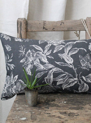 Floraison Shadow Scatter Cushion Linen Front