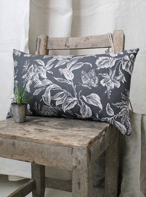 Floraison Shadow Scatter Cushion Linen Side