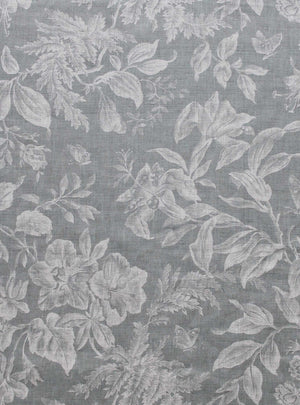 Floraison Manoir Grey - Natural Linen