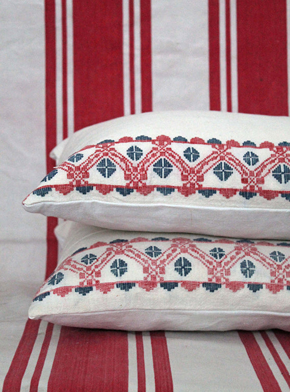 Folky Embroidered Scatter Cushion