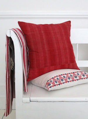 Vintage Fuscia Stripe Cushion