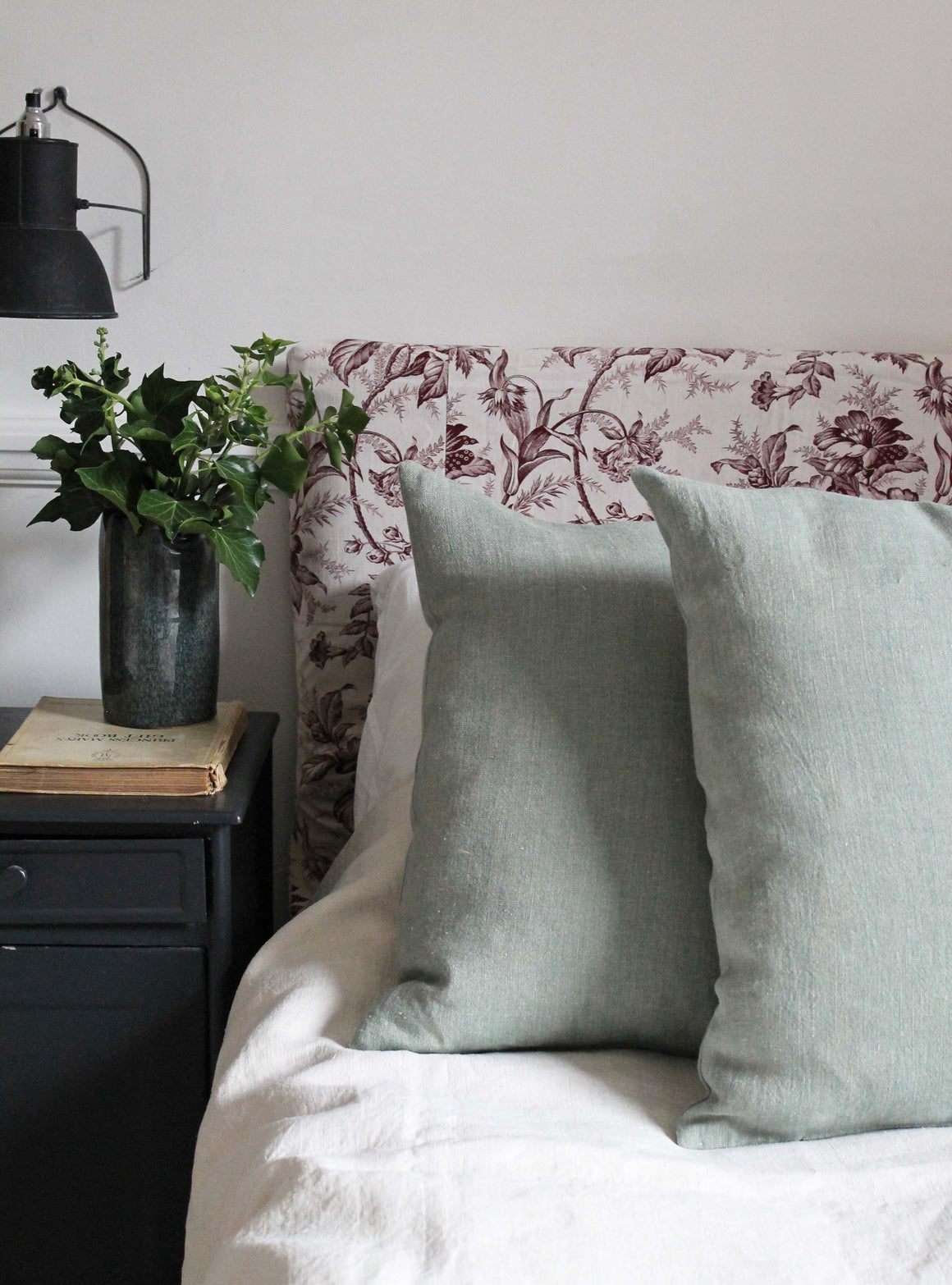 Blue/Green Linen Cushion
