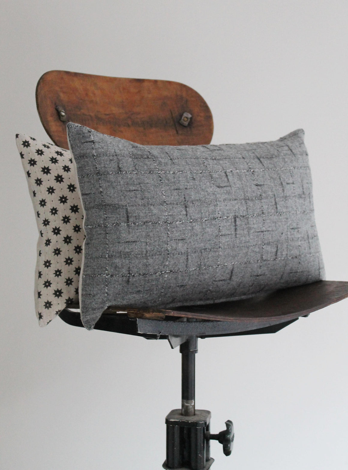 Grey Wool Scatter Cushion