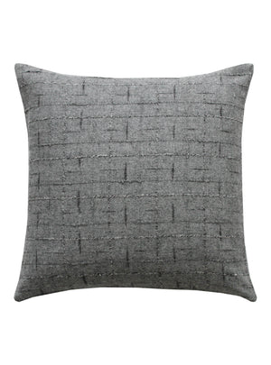 Grey Wool Square Cushion