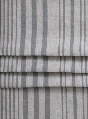 Stanley Stripe Manoir Grey - Natural Linen