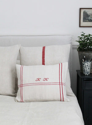 Embroidered Red Scatter Cushion