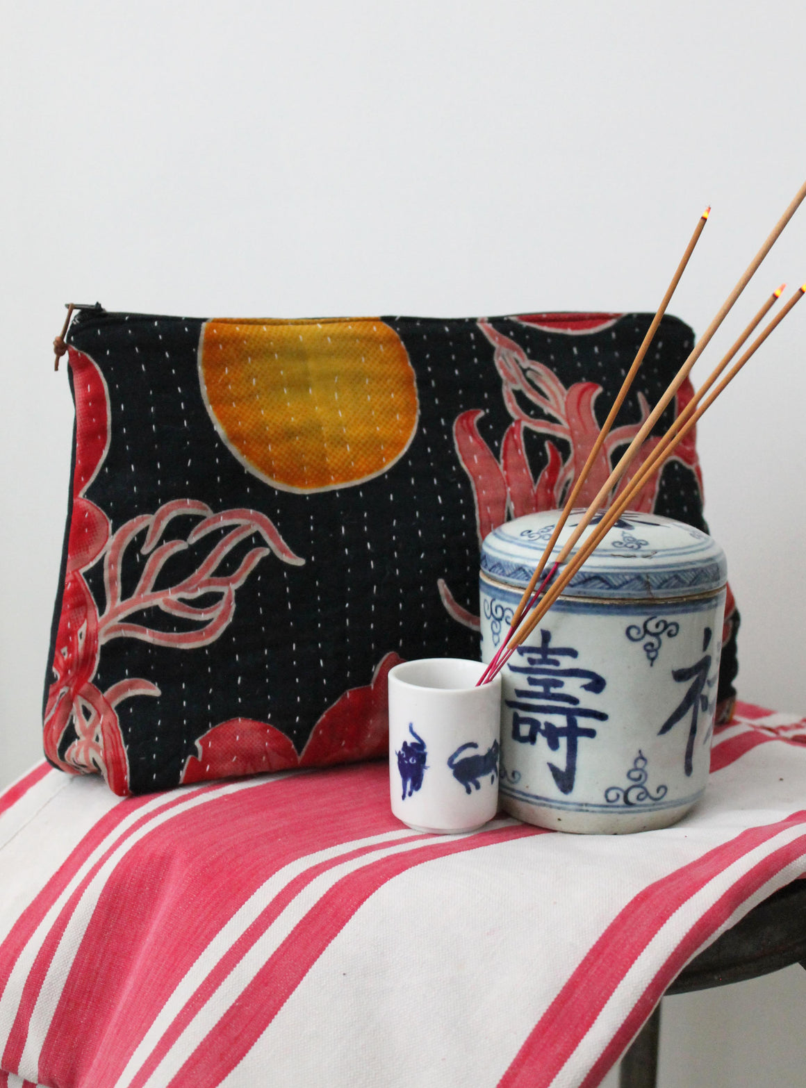 Kantha Large Washbag