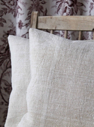 Slubby Linen Stripe Cushion