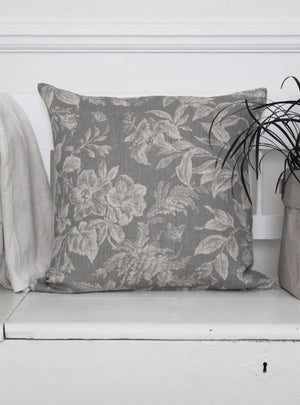 Floraison Manoir Grey Cushion