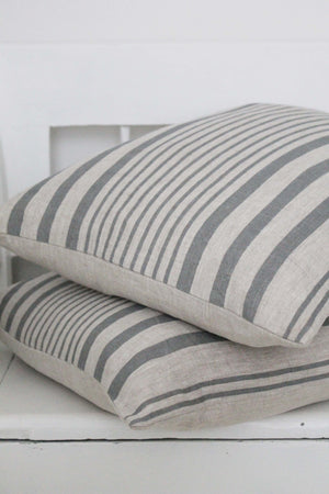 Manoir Grey Stripe Giant Scatter Cushion