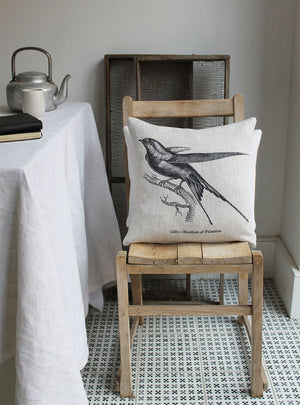 Palestine Swallow Linen Cushion