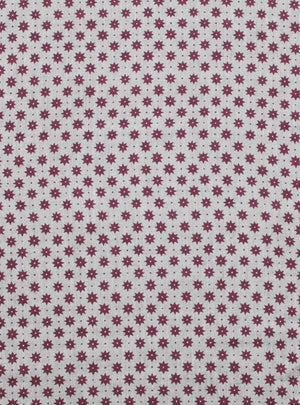 Petite Etoile French Raspberry - Natural Linen