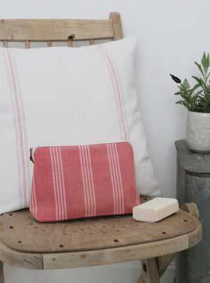 Pink Stripe Small Washbag