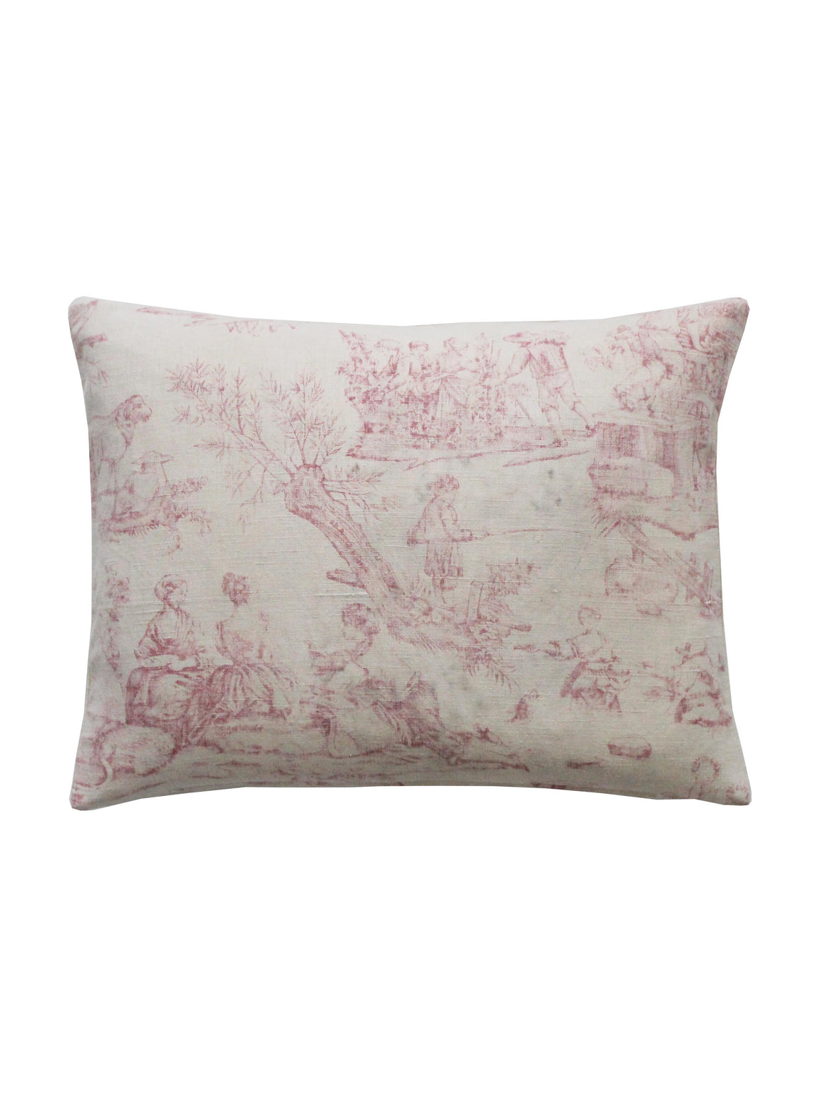 Pink Toile Square Cushion