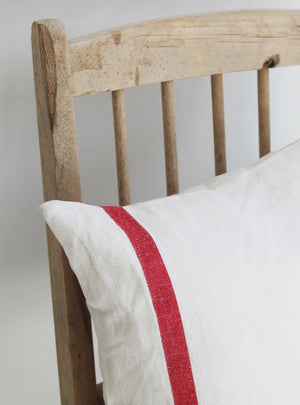 Bold Red Stripe Square Cushion