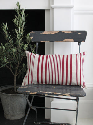 Stanley Stripe French Raspberry Scatter Cushion