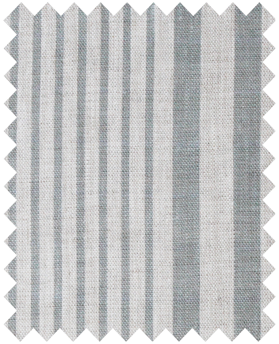Stanley Stripe Manoir Grey - Natural Linen Swatch