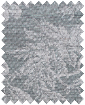 Floraison Manoir Grey - Natural Linen Swatch