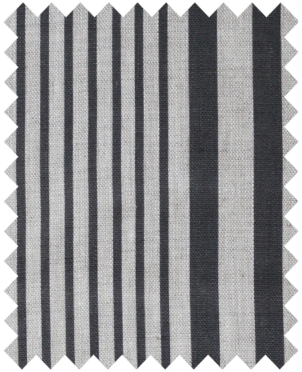 Stanley Stripe Soot - Natural Linen Swatch
