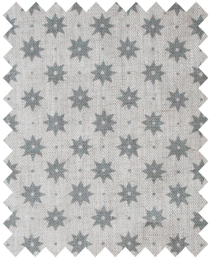 Petite Etoile Manoir Grey - Natural Linen Swatch
