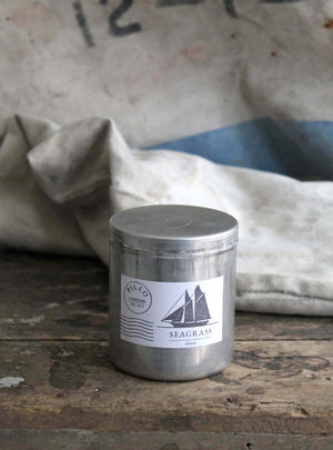 Seagrass Large Tin Candle