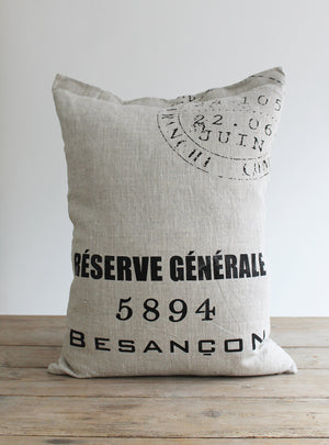 Besancon Stamp Cushion