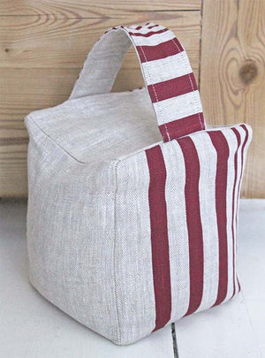 Stanley Stripe French Raspberry Door Stop