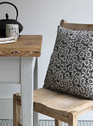 SummerLea Soot Square Linen Cushion Close