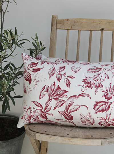Floraison Summer Raspberry Scatter Cushion