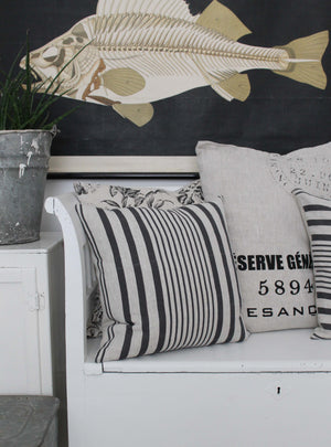 Super Stripe Square Cushion Soot