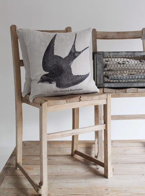 Barn Swallow Linen Cushion