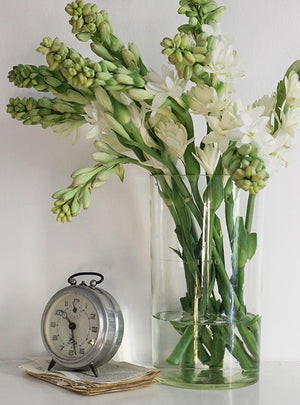 Vintage 1920s Glass Vase Flowers