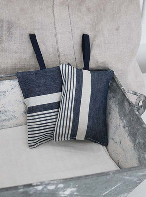 Vintage Blue Ticking Stripe Lavender Pad