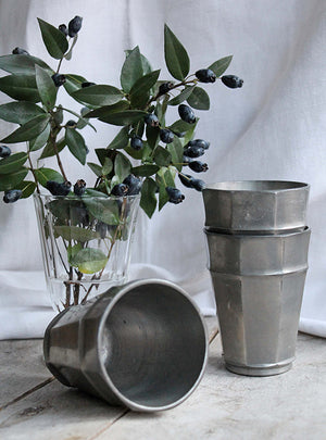 Vintage Pewter Cups