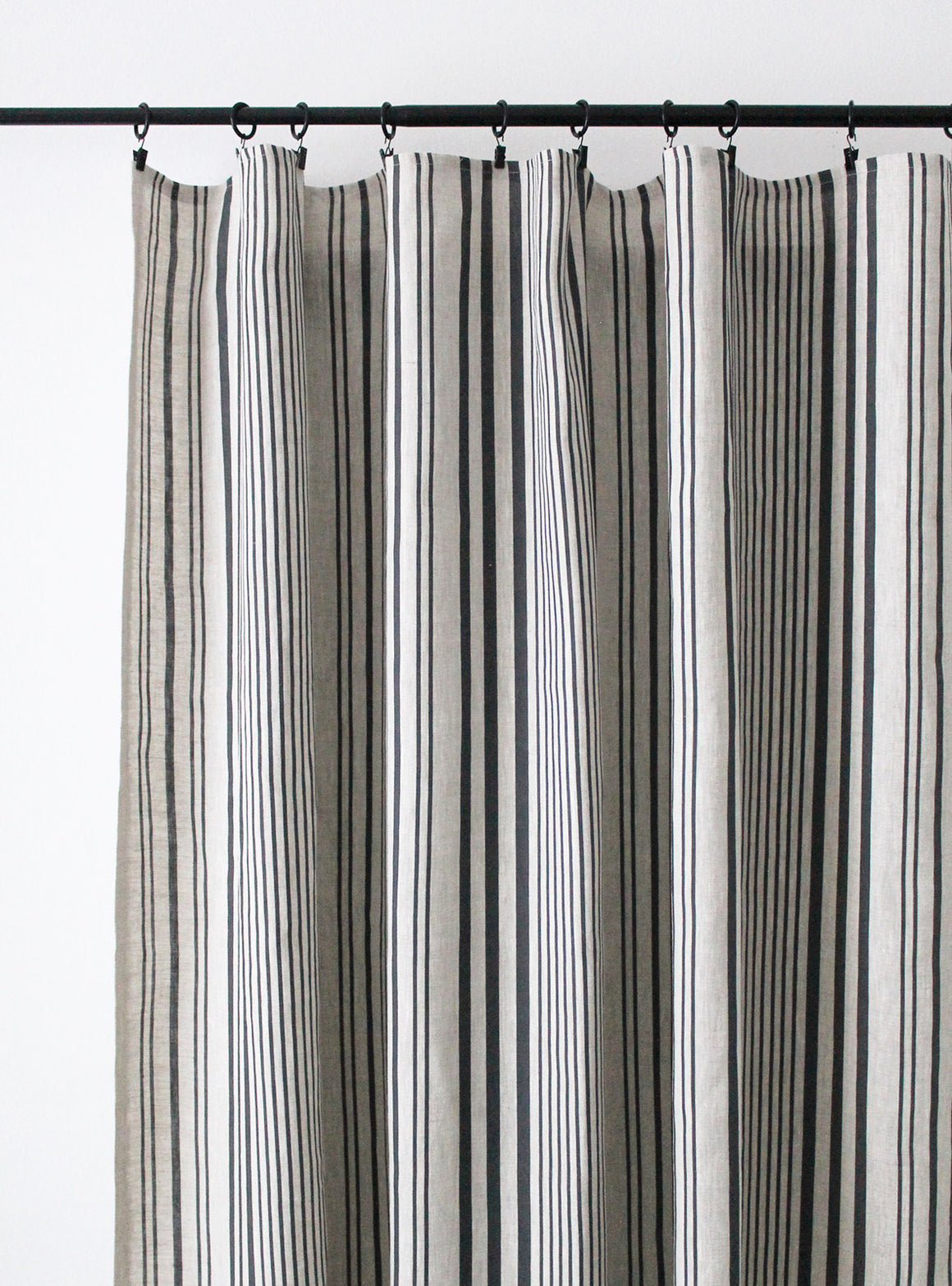 Stanley Stripe Soot - Natural Linen