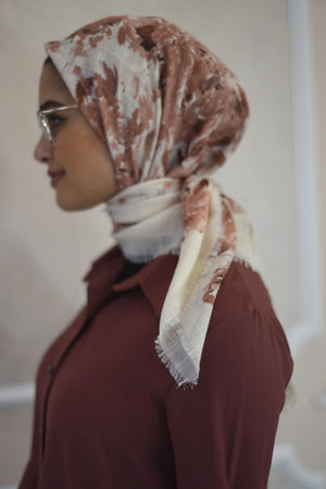Square Dusty salmon  Hijab