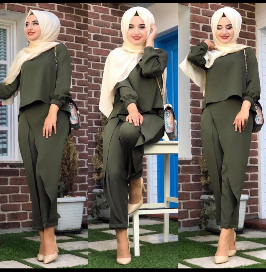 HIGHLOW TOP / PANTS SET GREEN