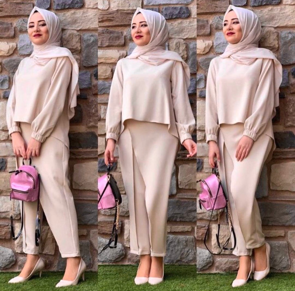 HIGHLOW TOP / PANTS SET CREAM