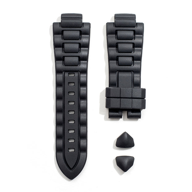 Rubber Strap in Onyx