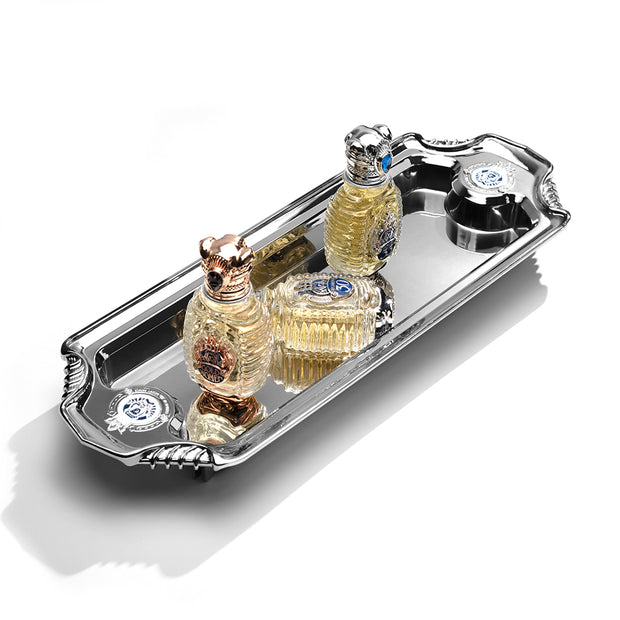 "Fragrance Tray <div style=""padding-top:15px;color: #9b9b9b ;font-size:14px;font-style:regular;"">Accessories</div>"