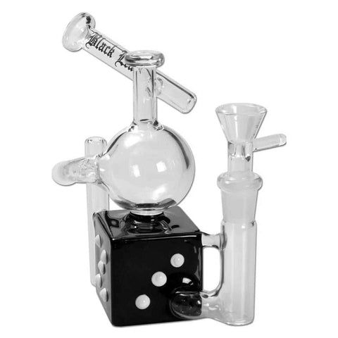 Black Leaf – Recycler Glass Bong – Dice