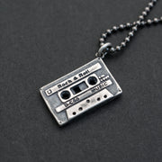 'Cassette tape' necklace for men
